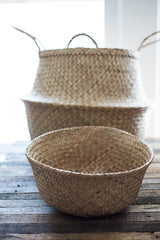 Seagrass Storage Baskets. Set of 3. Fold down to nest. Plant pot. #baskets #planter #storage