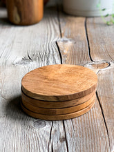 Load image into Gallery viewer, Wood coasters | Teak Wood coasters| www.bowlandpitcher.com