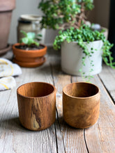 Load image into Gallery viewer, Teak Cups, Wood Cups, Teak Root Cups, #woodcups www.bowlandpitcher.com