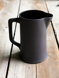 Still Life Pitcher in Matte Black | Large Jug | Flower Vase | www.bowlandpitcher.com