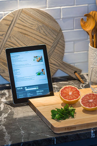 Kitchen Prep Board w/ tech slot | www.bowlandpitcher.com #prepboard