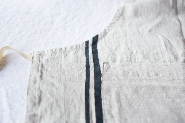 Exquisite craftsmanship, beautiful French Linens, timeless and modern. #frenchlinen #linenapron