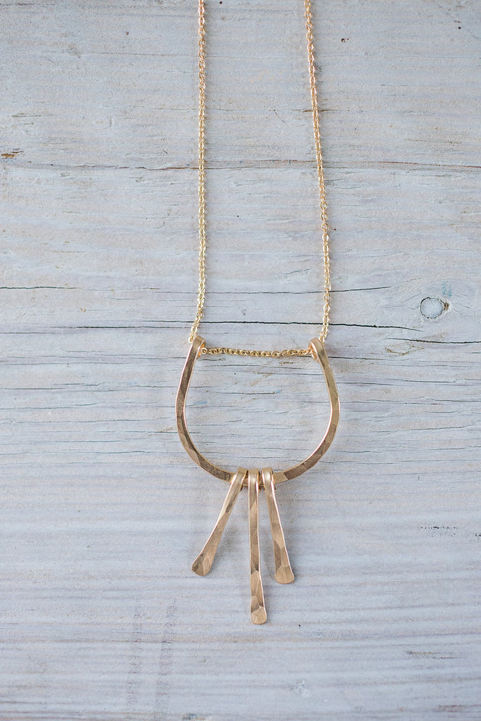 Hammered Mixed Metal Necklace | www.BowlandPitcher.com