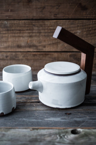 Ceramic Tea Pot w/ 2 Cups