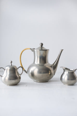 Vintage Pewter Tea Set