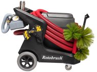 Rotobrush duct cleaning machine, assembled