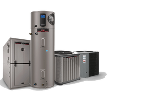 Ruud equipment family - furnace, professional series water heater, condensing units