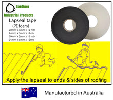 Load image into Gallery viewer, PE foam tape (Lapseal, Purlin & Back channel tape)