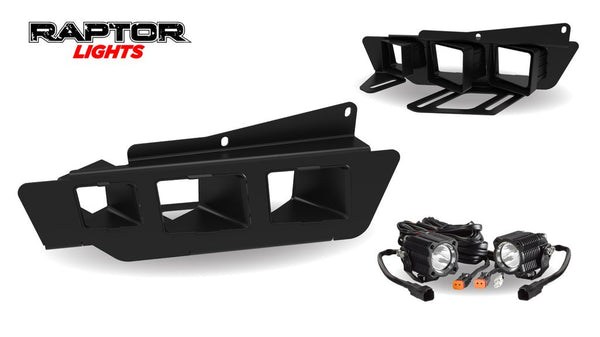 2017+ Ford Raptor Triple Light Bezel Kit