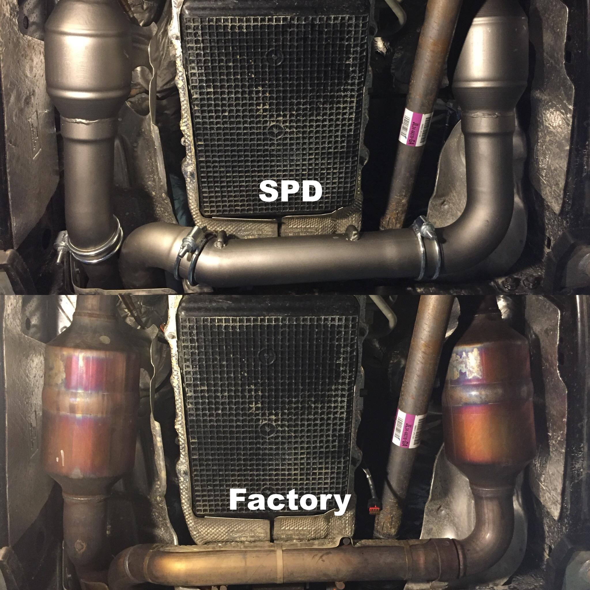 2017-2018 Raptor Catted Downpipes - DP35FR1718-HFC