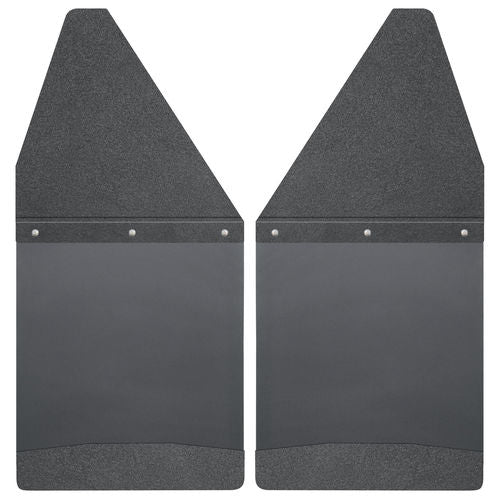 "Kick Back Mud Flaps 12"" Wide - Black Top and Black Weight"