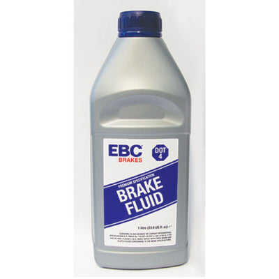 1 250ml bottle of EBC Brakes DOT-4 glycol fluid