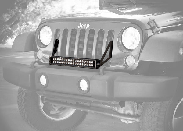 "20"" C Series C20 LED Bar & Grille Mount Bracket Kit - Jeep JK 07-15"