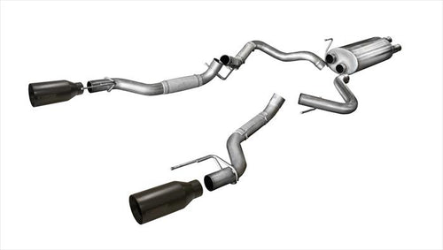 Corsa Performance 2017-2018 Ford Raptor Sport Cat-Back Exhaust System - 14397BPC - Apollo Optics, Inc.