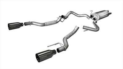 Corsa Performance 2017-2018 Ford Raptor Sport Cat-Back Exhaust System - 14397GNM - Apollo Optics, Inc.