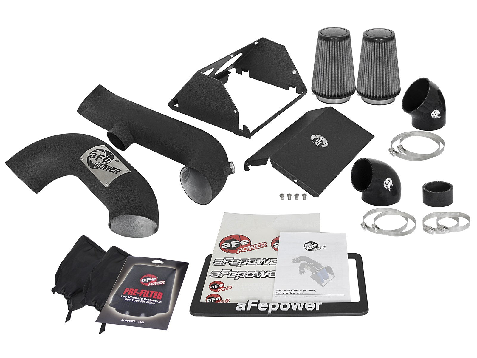 aFe POWER 51-12882-B Magnum FORCE Stage-2 Pro Dry S Cold Air Intake System - Wrinkle Black - Apollo Optics, Inc.