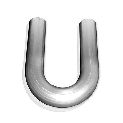 "1-1/2"" 180 degree bend, 304 stainless steel, .065 wall thickness, minimum 6"" leg"