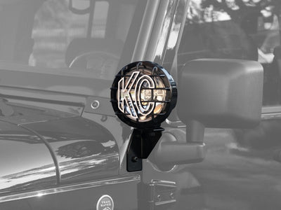 Windshield Side Mount Light Bracket for Jeep JK (2007-2015) - Apollo Optics, Inc.