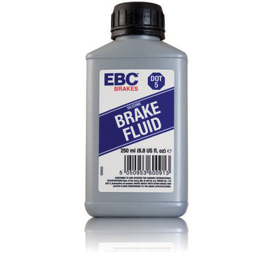 1 250ml bottle of EBC Brakes DOT-5 silicone based fluid
