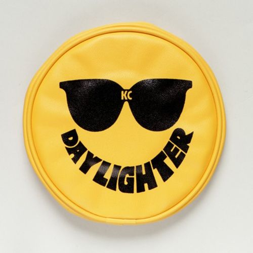 "6"" Vinyl Cover - KC #5205 (Yellow with Black Sun Glasses)"