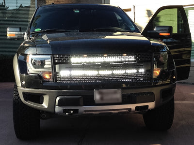 "Ford Raptor 40"" and 30"" C-Series Light Bars and Brackets Kit - Apollo Optics, Inc."