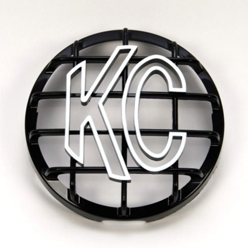 "6"" Stone Guard - KC #7210 (Black with White KC Logo)"