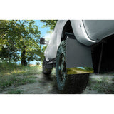 "Removable Pivoting Mud Flaps 14"" Wide - Black Weight"