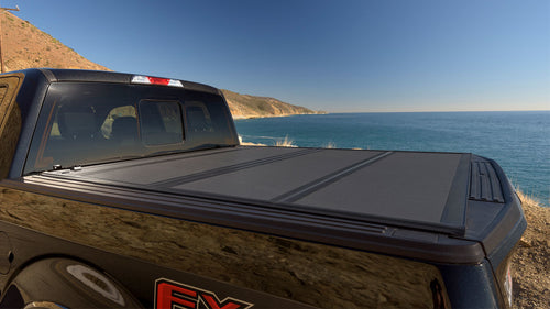 2015-2018 F150 & Raptor 5.5ft Bed BAKFlip MX4 Hard Folding Tonneau Cover - Apollo Optics, Inc.