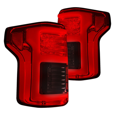 RECON 264268LEDRD Ford F150 15-20 & RAPTOR 17-20 (Replaces OEM LED Style Tail Lights w Blind Spot Warning System) OLED TAIL LIGHTS – Red Lens