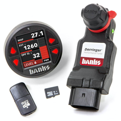 Derringer Tuner w/DataMonster, ActiveSafety, & Banks iDash 1.8, for 2011-19 Ford