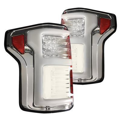 RECON 264268LEDCL Ford F150 15-20 & RAPTOR 17-20 (Replaces OEM LED Style Tail Lights w Blind Spot Warning System) OLED TAIL LIGHTS – Clear Lens