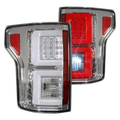 RECON 264468CL Ford F150 18-20 (Replaces OEM Halogen Style Tail Lights) LED TAIL LIGHTS – Clear Lens