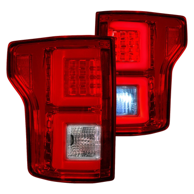 RECON 264468RD Ford F150 18-20 (Replaces OEM Halogen Style Tail Lights) LED TAIL LIGHTS – Red Lens