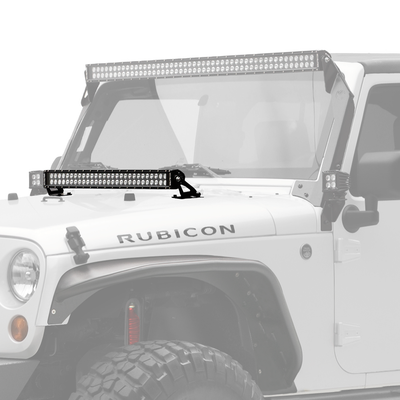 "30"" C Series C30 LED Bar & Hood Mount Bracket Kit - Jeep JK 07-15 - Apollo Optics, Inc."