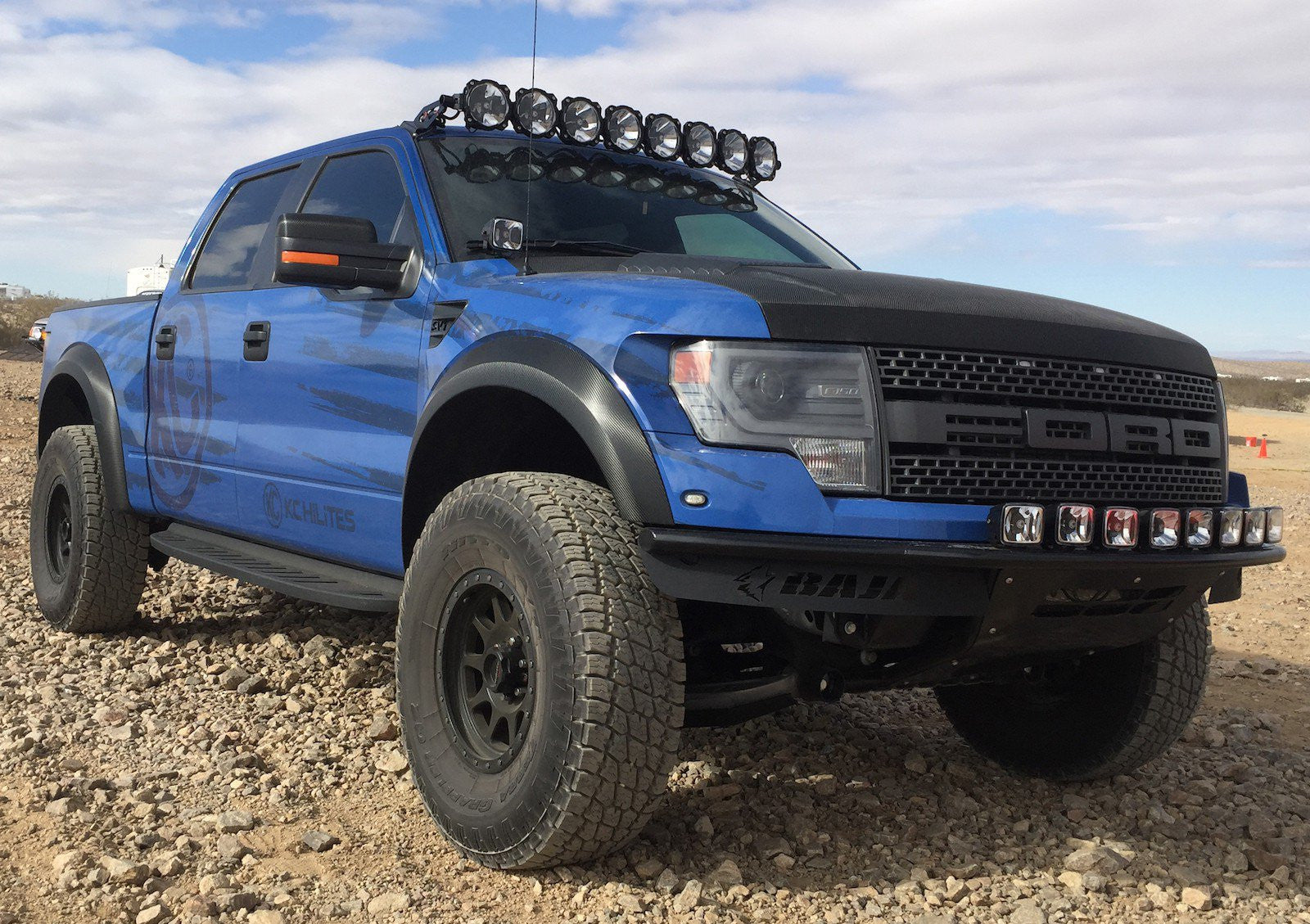 Kc hilites pro6 led light bar raptor kit apollo optics inc pro6 led light bar 2009 2014 ford f 150raptor kit aloadofball