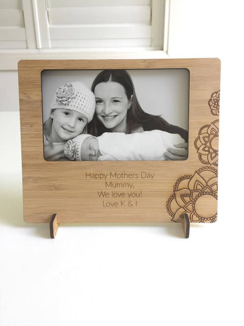 Personalised Bamboo Photo Frame - Alexa Lane