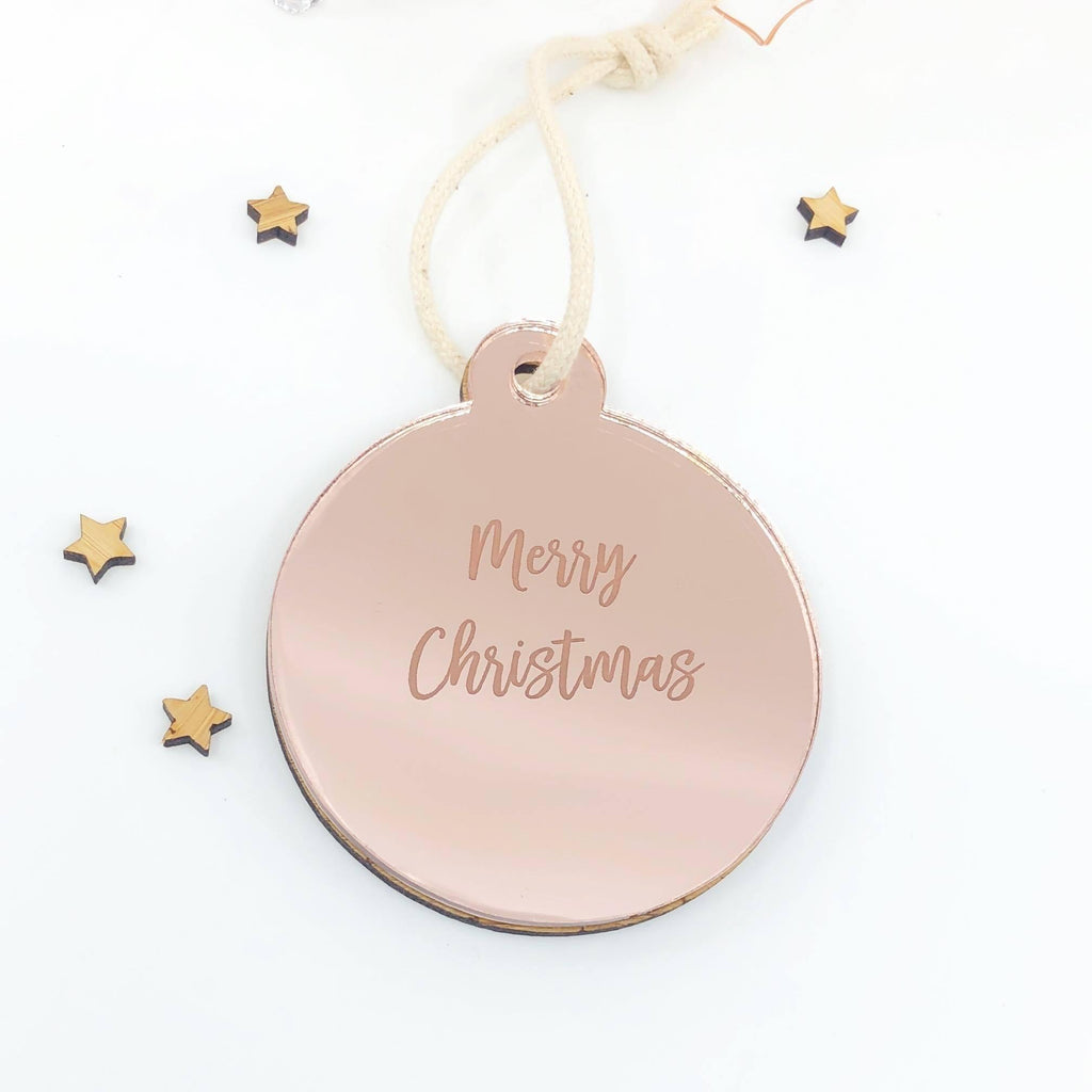 Christmas Timber & Acrylic Personalised Decoration