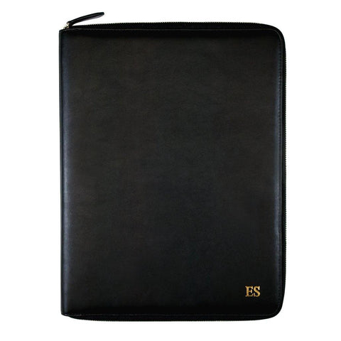 A4 Vegan Leather Black Compendium