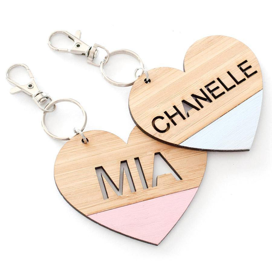 Custom name heart bag tag and keyring - Alexa Lane
