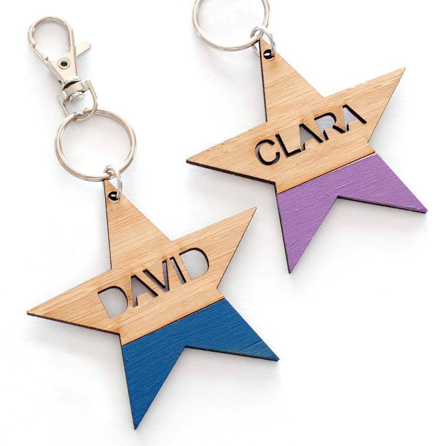 Custom name star bag tag and keyring - Alexa Lane