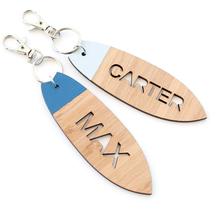 Custom name Surfboard bag tag and keyring - Alexa Lane