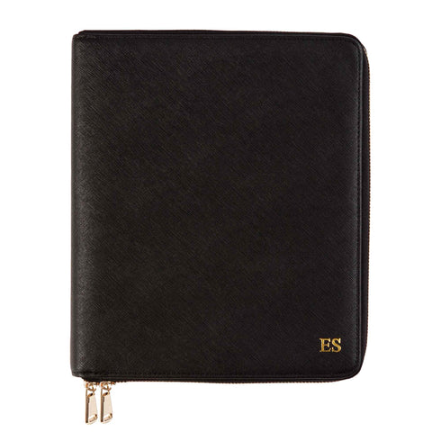 Black Zippered Compendium