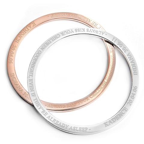 Kadence Personalised Engraved Bangle Bracelet - Alexa Lane