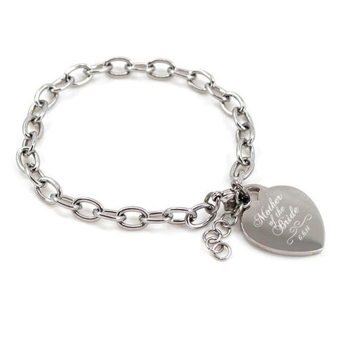 Mother of the Bride engraved bracelet with date - Alexa Lane