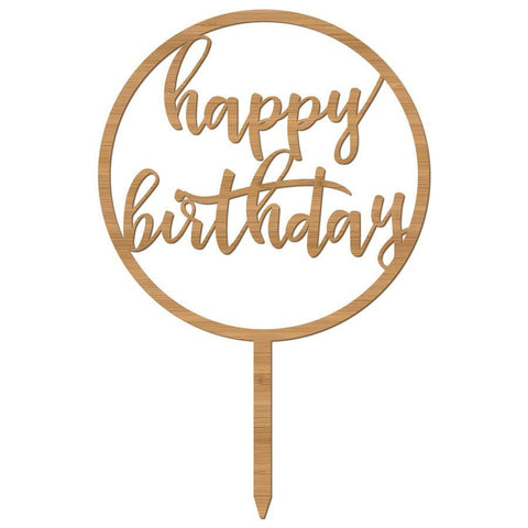 Cake Topper Happy Birthday Circle fancy - Alexa Lane