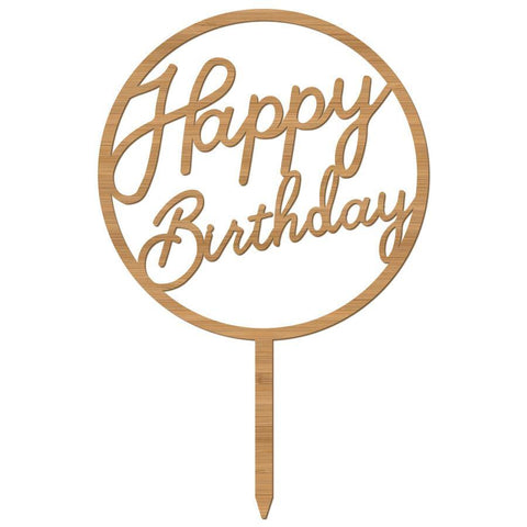 Cake Topper Happy Birthday Circle - Alexa Lane