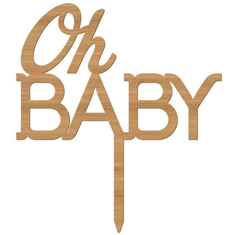 Cake Topper Oh Baby Baby Shower - Alexa Lane