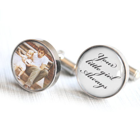 Father of the Bride photo cufflinks - Alexa Lane
