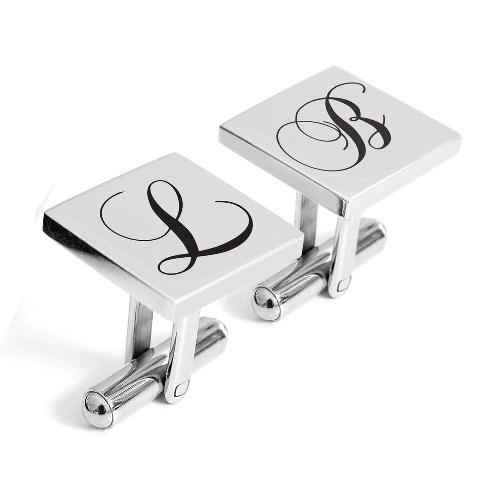 Personalised engraved Initial cufflinks