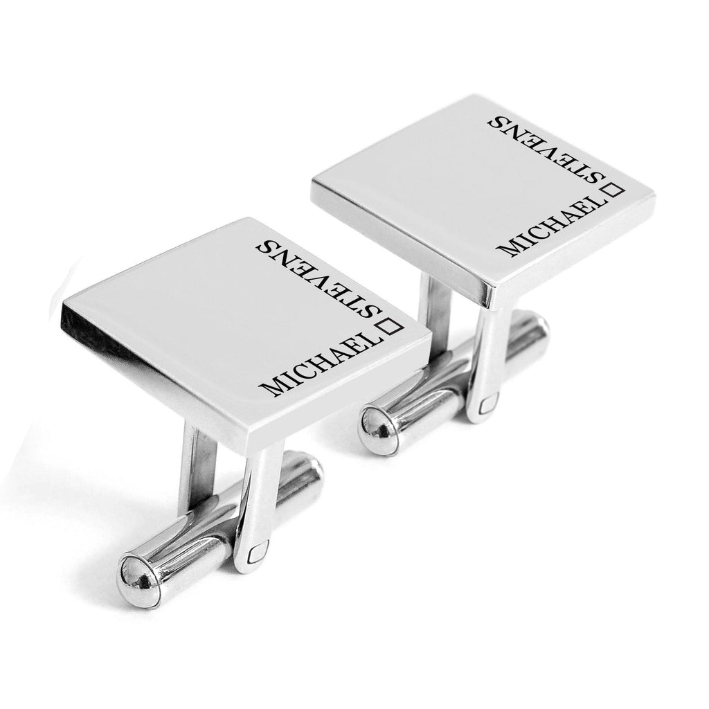 Personalised engraved cufflinks with name - Alexa Lane